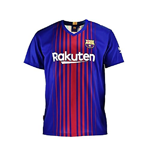 Camiseta 1ª Equipación Replica Oficial FC BARCELONA 2017-2018 Sin Dorsal LISO - Tallaje NIÑO JUNIOR (8 AÑOS)