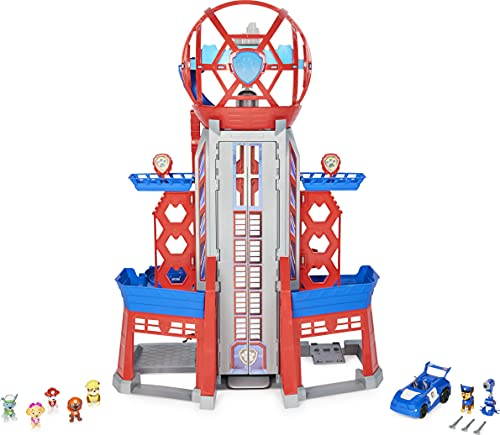 Paw Patrol, Movie Ultimate City 3ft. Tall Transforming Tower with 6 Action Figures, Toy Car, Lights and Sounds, Kids Toys for Ages 3 and up