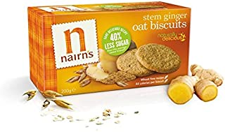 Nairns Oat Cookies Stem Ginger 7.1oz (200g) Case of 6