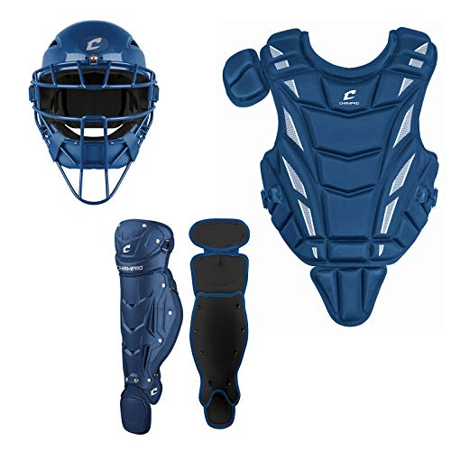 CHAMPRO Triple-Play Youth Catcher's Set, Ages 9-12, Royal (CBSY5912RY)