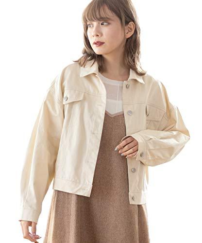 [アドティエ] ツイルジャケット ショート コットン100% スプリングジャケット アウター 春 ゆったり 11207...