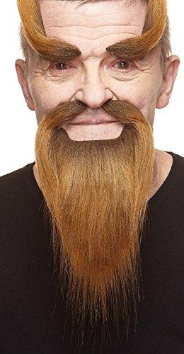 Mustaches Barba, Bigote y Cejas castaños Estilo Monje Shaolin