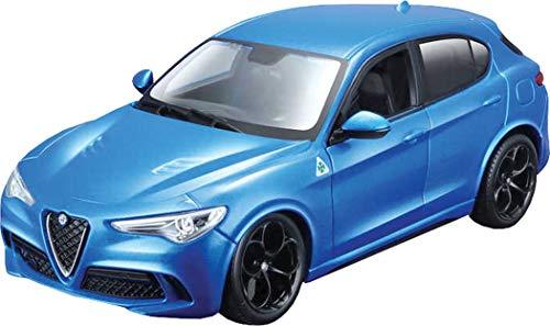 Bburago-1:24 Alfa Romeo Stelvio, Colore Blu, B18-21086