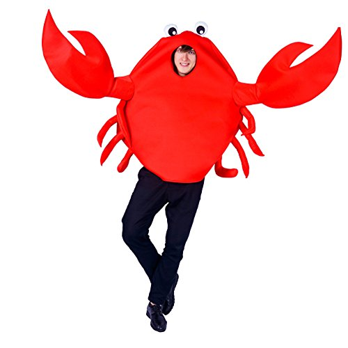 SEA HARE Traje de Disfraz de Animal Doméstico de Cangrejo Rojo Adulto Unisex (Talla única)