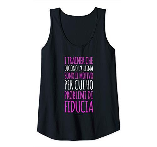 Donna Canottiera Sportiva Donna Palestra Trainer E Fiducia Canotta