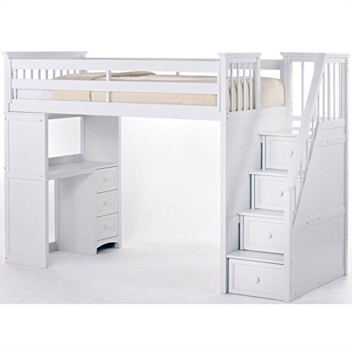 Bunk Beds With Stairs And Desk Amazoncom