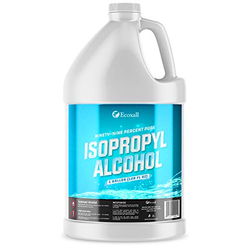 Isopropyl Alcohol 99% (IPA) - 128 Fluid Ounces - (4) 32 Fl Oz Bottles - Concentrated Rubbing Alcohol - Ecoxall Chemicals