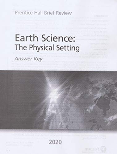 (2020 Brief Review) New York Earth Science : The Physical Setting Answer Key