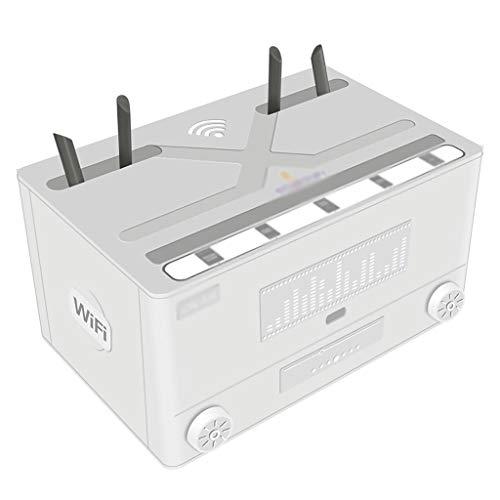 Soporte Altavoces Pared Caja de almacenamiento multifuncional router for cubrir y ocultar el cable y el cable de alimentación del sistema y del router de almacenamiento de Box-negro y blanco Soporte T