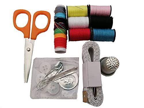 Costurero Pequeño Viaje Mini Completos Hilos Kit Set Pack Profesional Lleno Original Costura Basico Caja Accesorios Botones Bordar