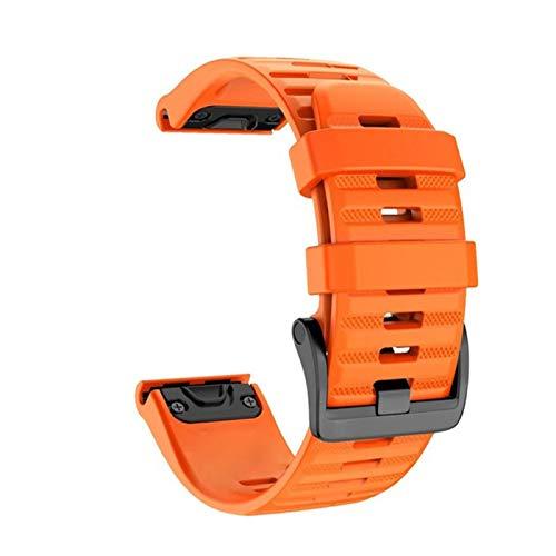 YGGFA 26 22mm de liberación rápida correa de reloj para Garmin Fenix 6 6X Pro 5 5X Plus 3HR banda de silicona Fenix 6 Fenix 5 reloj para Easyfit correa de muñeca correa de reloj