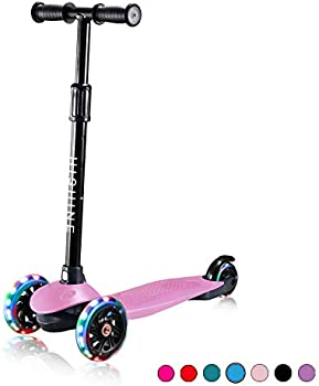Prinic Adjustable Height Scooter with LED Light Up 3 Wheels
