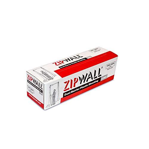 ZipWall PY50 Dust Barrier Plastic Sheeting, Clear