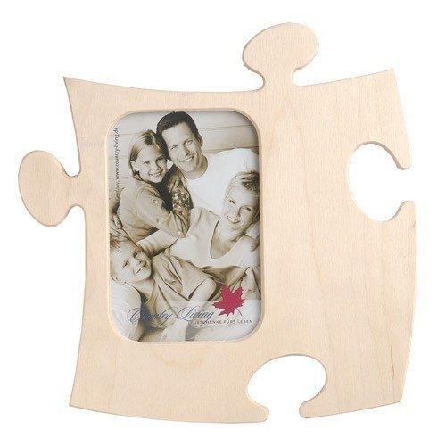 Unbekannt Rahmen Puzzle aus Holz–1Foto 9x 13cm–Natur