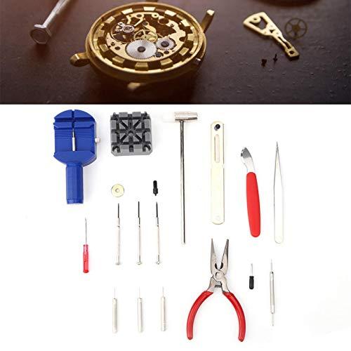 Kit de reparación de relojes profesional 16 piezas para relojero