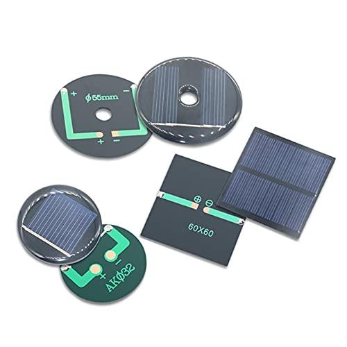 Mini Panel Solar 1 UNID 2V 3V 50mA 100MA 125MA Mono/MÓDULO Solar PORRRYSTALLINE/Módulo de la batería de la célula Solar Tablero de epoxi Mascota Tablero de generación de energía