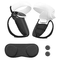 【Diseño único】: Especialmente diseñado para los auriculares Oculus Quest 2, que incluyen 2 * Cubierta del controlador y 2 * Correa de mano, nuevos controladores de actualización que pueden satisfacer sus necesidades de realidad virtual, aumentan la s...