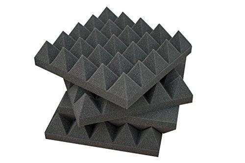 Pannelli Fonoassorbenti Piramidali 25x25x6 - Pacco da 20 Misto (10 Neri + 10 Grigi)