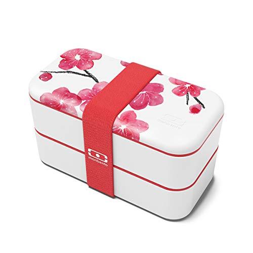 monbento - MB Original Graphic Blossom rot/rosa/weiß Bento Box Made in France...