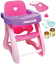 JC Toys - for Keeps Playtime!   Baby Doll High Chair   Fits Dolls up to 17