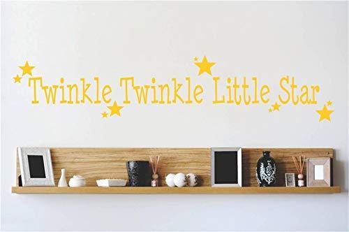 stickers muraux bébé fille twinkle twinkle petite étoile pour chambre d'enfants chambre de garçons