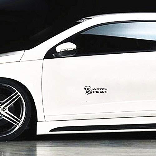 Auto Aufkleber 14,7 Cm x 5,3 Cm Uhr Der Himmel Persönlichkeit Alien Lustige Auto Aufkleber Aufkleber Für Auto Laptop Fenster Aufkleber