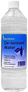 Pack Bird Brand 1Litre De-Ionised  Demineralised Water  Non Distilled Natural Water