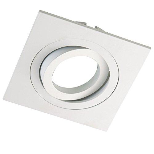 Wonderlamp Clasic W-E0 Foco empotrable cuadrado, Blanco, 1 UNIDAD