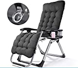 Patio Lounge ChairsSun Lounger,Big Zero Gravity Garden Lounge Chair, Camping Oblique Lounge Chair, Outdoor Folding Can Adjust Sun Chair, with Tray-2