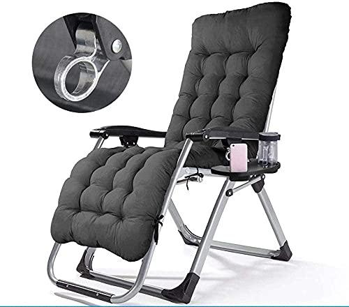Tumbona reclinable, silla de oficina o de salón, plegable en el cuerpo, silla de playa de ocio, reposacabezas, silla de jardín para casa, apta para interiores y exteriores