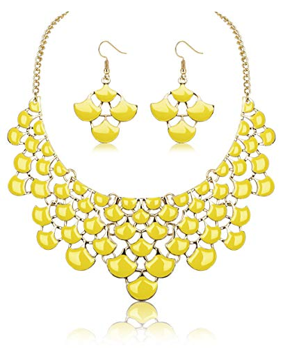 LOYALLOOK Fashion Jewerly Set Women Bid Chunky Nescklace Statement Necklace Costume Drop Earrings Je - http://coolthings.us