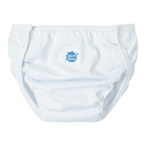 Splash About Baby Schwimmzubehör Nappy Wrap Überziehhose, Weiß, 0-4 Monate