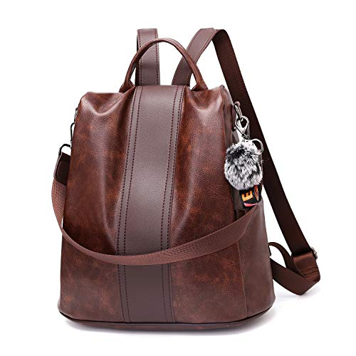 TcIFE Backpack Purse for Women Fashion School Purse and Hangbags Shoulder Bags PU Anti-theft Rucksack