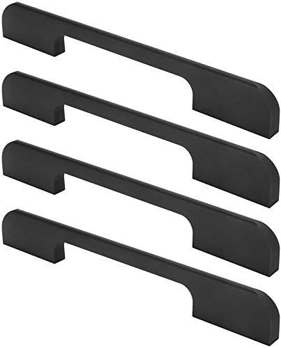 GIAOYAO Manija de tirón de la Puerta, Tirador de Mango de artesanía Fina, para gabinetes de Cocina Puertas de Muebles (Mango de cajón Americano 192 Aperture Black) (Color : 192 Aperture Black)