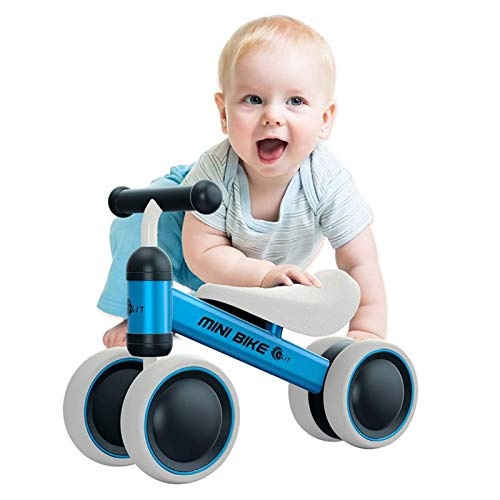 YGJT Baby Balance Bikes Rides Toys for 1 Year Old Boys, Anti-Drop Indoor Baby Walker 10-24 Month Baby