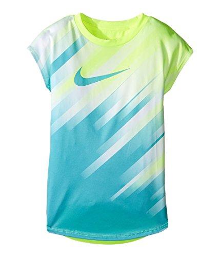 Nike Kids Speed Line Dri-FIT Modern Tee Little Kids Volt Girls T Shirt