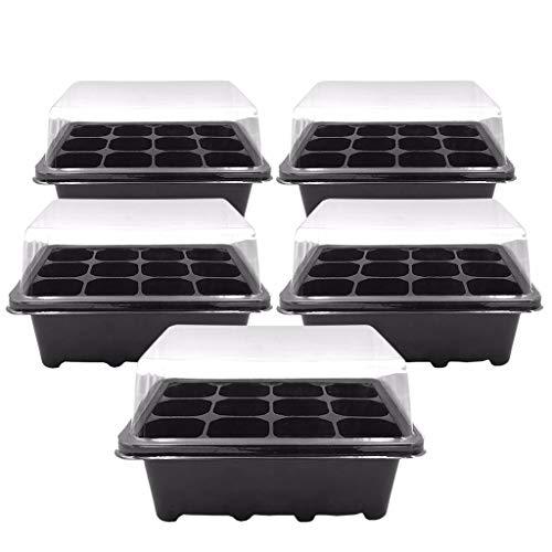 12 Cells Hole Pots Plant Seed Box Pflanzkübel Blumenkübel Blumentopf, Pflanzenkasten hoch, Winterfest Pflanzer Pflanzenbox Pflanzbeutel Pflanzen Box Grow Bag Pflanzen Tasche (2pcs)