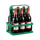 GZWY Cesta para botellas de vino plegable, 6 compartimentos, portátil, para botellas de cerveza, duradera, moderna, para bar, exterior, picnic, fiesta (C)