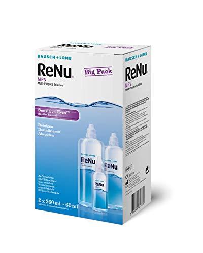 Bausch en Lomb - ReNu MPS contactlenzen vloeistof zachte lenzen, Bigbox 2 x 360 ml + 60 ml