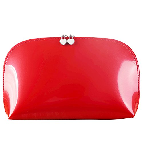 Ledmomo Cosmétique Beauté Sac de voyage Organiseur pratique Pouch (Rouge)
