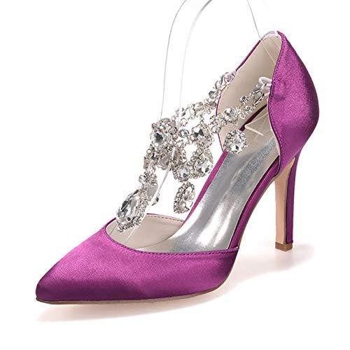 HLONGG Zapatos de novia para mujer, bombas de encaje para mujer, zapatos...