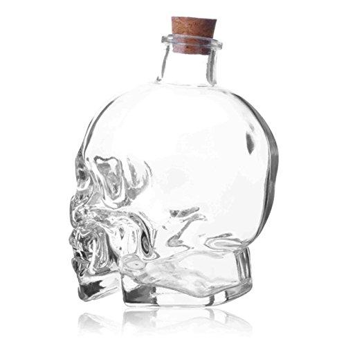 Liquore Decanters Bottiglia Teschio, Caraffa Teschio, Bottiglia Vaso Creativo, Bottiglia di Vino, Bottiglia di Whisky, Vino Caraffa Decanter, Bottiglie di Vetro da 750 ml, Bollitore di Vetro 22oz