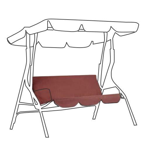 Coprisedile di ricambio per seduta dondolo a 3 posti, 150 x 150 x 10 cm, rivestimento antipolvere e impermeabile marrone