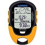 JXWANG GPS Tracker Altímetro Barómetro Pronóstico del Tiempo Brújula Termómetro Barométrico De Presión GPS Seguimiento De Ruta Medidores Multifuncional IPX4 Linterna
