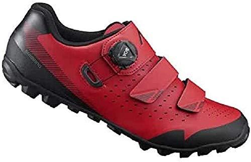 SHIMANO Zapatillas Sh M MTB ME4 T-45, Scarpe per Ciclismo su Strada Uomo, Rojo Roj 000, 45 EU