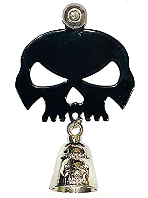 Kustom Cycle Parts Universal Gloss Black Skull Bell Hanger With Bell - Bolt and Ring Included. Fits all Harley Davidson Motorcycles & More! Proudly MADE IN THE USA! by Kustom cycle parts