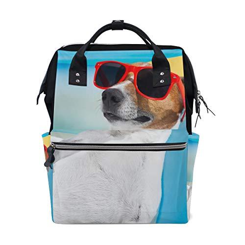 Sonnenbrille Cool Dog Tier Große Kapazität Wickeltaschen Mama Rucksack Multi Funktionen Windel Pflege Tasche Tote Handtasche Für Kinder Babypflege Reise Täglichen Frauen