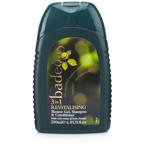 Badedas 3in1 Shower Gel, Shampoo and Conditioner 200ml by Badedas (English Manual)