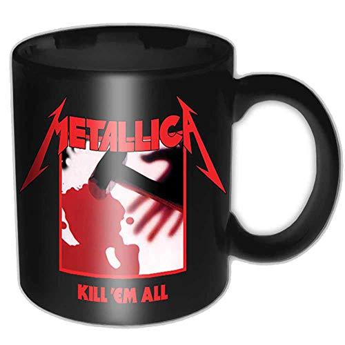 N\A Taza de café Negra Kill em All de Metallica
