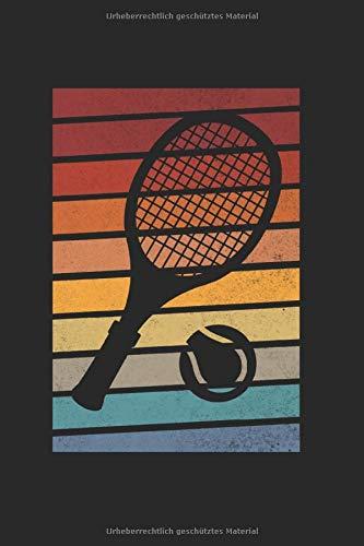 Tennis Retro Tennisspieler Spieler: Tennis & Tennisspieler Notizbuch 6'x9' Tennistrainer Geschenk für Sport & Sportler